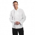 A134-M Vegas Chefs Jacket (Long Sleeve) - White