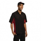 A952-S Contrast Shirt - Black and Red