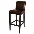 GG652 Faux Leather High Bar Stool with Full Back
