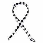 A261 Neckerchief - Big Black and White Check