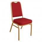 DL016 Squared Back Banqueting Chair Red (Pack of 4)