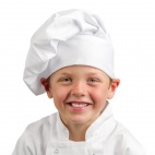 A677 Kids Chef Hat - White