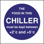 L838 Food In This Chiller Sign