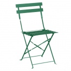 GK980 Garden Green Pavement Style Steel Chairs (Pack of 2)