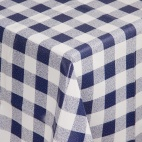 E789 Blue Check Tablecloth