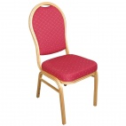U525 Aluminium Arched Back Banquet Chairs Red (Pack of 4)