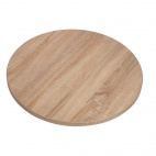 GG294 Round Table Top Sawcut Oak Finish 600mm