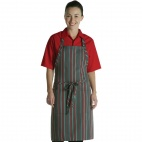 A971 Adjustable Bib Apron - Red and Grey