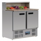 G603 2 Door Refrigerated Pizza Prep Counter