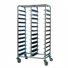 Stainless Steel Clearing Trolley 24 Shelves