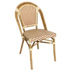 Continental Bistro Faux Wicker Side Chairs