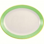 Rio Green Oval Coupe Dishes 255mm