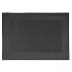 PVC Placemat Fine Band Frame Black