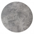 Werzalit Round Table Top Concrete 700mm
