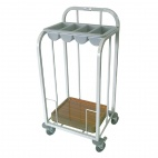 Single Tier Cutlery & Tray Dispense Trolley