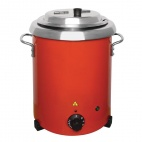 GH227 Red Soup Kettle with Handles