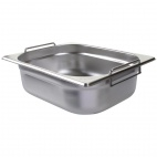 CB183 Stainless Steel 1/2 Gastronorm Pan With Handles 100mm