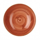 Churchill Stonecast Round Coupe Bowls Spiced Orange 220mm