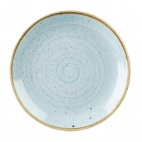 Churchill Stonecast Round Coupe Plates Duck Egg Blue 315mm