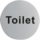 U062 Stainless Steel Door Sign - Toilet
