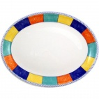 Churchill New Horizons Chequered Border Oval Platters 254mm