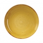 Churchill Stonecast Round Coupe Bowls Mustard Seed Yellow 248mm