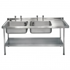 E20616RTPA 1800mm Stainless Steel Sink (Fully Assembled)