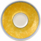 Churchill New Horizons Marble Border Espresso Saucers Yellow 115mm