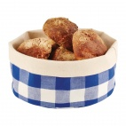 Bread Basket Round Small Blue