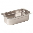 GN1/3 100 Stainless Steel 1/3 Gastronorm Pan 100mm