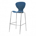 Stacking Blue Plastic High Stool (Pack of 4)