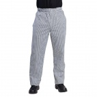 DL712-L Vegas Chefs Trousers - Small Black and White Check