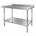 Stainless Steel Table with Upstand 1200mm