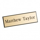 A884 Name Badges - Gold