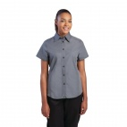B182-L Ladies Cool Vent Chefs Shirt - Grey