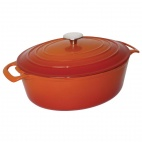 Oval Orange Casserole Dish Large - GH312