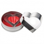 E025 Heart Pastry Cutter Set