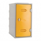 Plastic Single Door Locker Hasp and Staple Lock Yellow 600mm