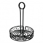 Wire Condiment Holder Black