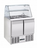 BPD2-ECO 220 Ltr Compact Refrigerated Prep Counter with Display
