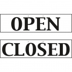 W212 Open And Closed Sign - Reversible