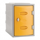 Plastic Single Door Locker Hasp and Staple Lock Yellow 450mm