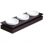 GC913 Frames Dark Wood Rectangular Small Bowl Base