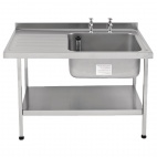 E20610LTPA 1200mm Stainless Steel Sink (Fully Assembled)