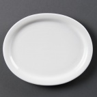 CB476 Whiteware Oval Platter
