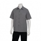 Black and White Check Cook Shirt L