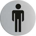 U057 Stainless Steel Door Sign - Gentlemen