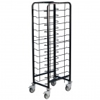 Powder Coated Enamel Clearing Trolley 12 Shelves
