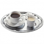T765 Coffee House Tray - Oval, 30 x 22cm.