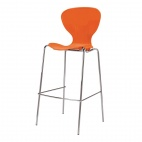 Stacking Orange Plastic High Stool (Pack of 4)
